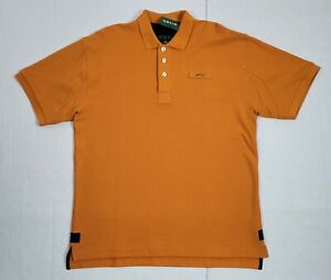 New Orvis Orange Short Sleeve Mens Polo Shirt