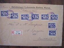 SUEDE 1933 Enveloppe cover Sverige SCHWEDEN sweden frankatur Malmö