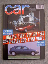 Car (March 1993) Diablo VT, 911 Turbo, Mondeo, Cherokee, Discovery, Tipo, Escort