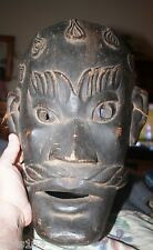 Antique African carved large wooden Face mask