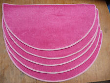 SET OF five 29	x	14.00	inches	(	74	x	36	cm) HALF MOON RUGS PINK #3232