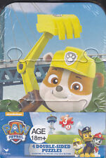 """Jigsaw Puzzle PAW PATROL 3 pcs ea 4.2"""" x 6.2"""" Double Sided 4  Pack"""