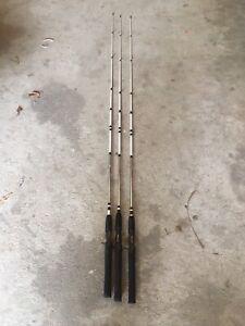 Lot of (3) 6' Shakespeare Alpha Graphite Casting Rod Fishing Rod ALP60 2pc Med