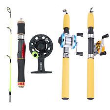 Telescopic Spinning Fishing Rod and Reel Combo Gear Tackle Saltwater Freshwater