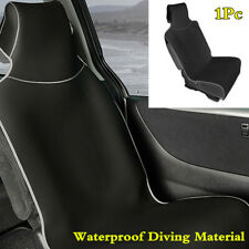 1Pc Black/Grey High Back Bucket Car Front Seat Cover Waterproof Diving Material
