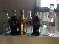 vintage coke cola bottles Lot Of 7
