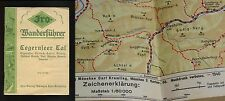 WWII Tegernsee Valley German Alps 1940 MAP Guide Bavaria Tegernseer Tall