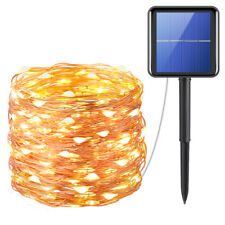 72ft 200 LED_Solar Strip Fairy Copper Wire String Lights Xmas Party Garden Decor