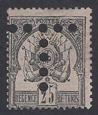 Tunisia 1888 25c Scott #5 with T = postage due perfin unused