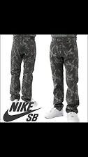 Nike SB Skateboarding Camo Pants Grey 596356-023 sz 28