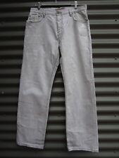 Billabong Men's Grey White Distressed Jeans Size 34 Measured Waist 34