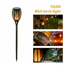 Pack of 2 Solar Garden LED Light Flickering LED Torch Lamp Outdoor UK