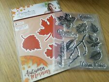 Sara Davies Collection Autumn Morning Tumbling Leaves 3 Die Set STAMPS Folder