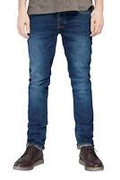 Nudie Herren Slim Fit Stretch Jeans Hose - Grim Tim Crosshatch Worn In