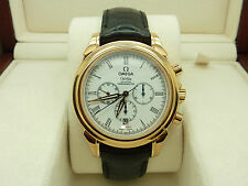 RARE 18K ROSE GOLD OMEGA DE VILLE CO-AXIAL AUTOMATIC CHRONOGRAPH LIMITED EDITION
