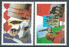 1995 VATICANO I VIAGGI DEL PAPA GIOVANNI PAOLO II MNH ** - ED