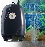 Adjustable Silent Fish Tank Air Pump 2 Ports Bubbles Oxygen Aquarium Large