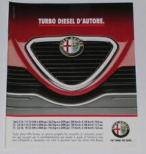 Advert Pubblicità 1990 ALFA ROMEO 164 TD