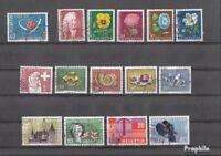 Schweiz gestempelt 1958 kompletter Jahrgang in sauberer Erhaltung