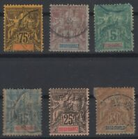 A142476/ DIEGO SUAREZ – YEARS 1892 - 1894 USED CLASSIC LOT – CV 115 $