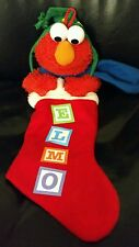 Elmo stocking stuffer plush doll sesame street red christmas xmas