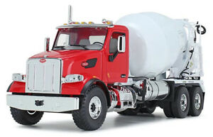 First Gear 1/34 Scale Peterbilt Model 567 with McNeilus Standard Mixer Red/White