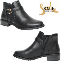 WOMENS LADIES ANKLE BOOTS LOW MID BLOCK HEEL CHELSEA ZIP UP SHOES NEW SIZE 3-8