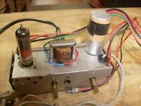 Vintage SEARS TUBE AMPLIFIER  from phonograph Record Player ONE TUBE