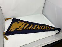 Rare Vintage Felt Pennant 20's / 30's / 40's / 50's - Illinois Eagles -