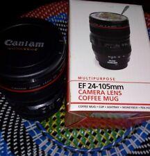 Objectif photo Mug Canon EF 24-105 mm Thé Tasse à Café Boisson Support en plastique avec couvercle