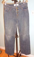 Moschino Women's Jeans Size 32 with Buttons down on the back Made in Italy EUC