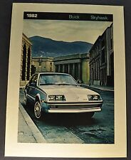 1982 Buick Skyhawk Catalog Sales Brochure Excellent Original 82