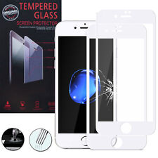 2 Films Verre Trempe Protecteur Protection BLANC pour Apple iPhone 7 Plus 5.5""