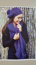 Heirloom Knitting Pattern #492 to Knit Hat & Cowl in 12 Ply Gypsie Yarn