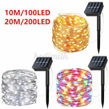New listing Outdoor Solar Fairy String Lights 100 Led Copper Wire Waterproof Garden