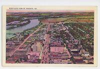 Birdseye View of AUGUSTA GA Vintage Georgia Postcard