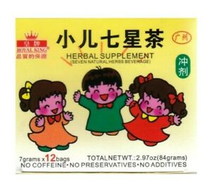 Royal King Seven Natural Herbs Beverage For Children 小儿七星茶 12 Bags