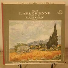 Bizet L'Arlesienne Karajan - Ste 1 & 2 Carmen Ste No 1 Vinyl Album Angel 1958 NM