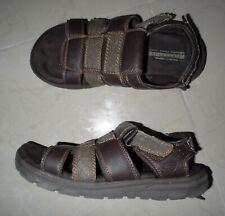 Skechers Men Size 11 Us Brown Straps Flat Fisherman Comfort Walking Shoes Sandal