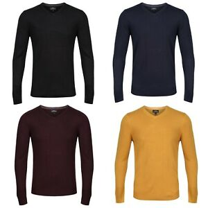 NEXT™ Mens Jumper New V Neck Soft Fine Knit Sweater Warm Knitted Pullover Top