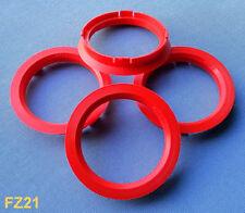 (FZ21) 4 Stück  Zentrierringe 74,1 / 63,4 mm rot für Alufelgen
