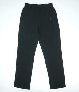 NEW FEATS OF STRENGTH BLACK ATHLETIC RUNNING TRACK PANTS SIZE L