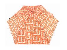 Knirps Flat Duomatic Scrabble Regenschirm Taschenschirm Orange Mehrfarbig Neu