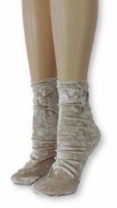 Oak Crushed Velvet Socks