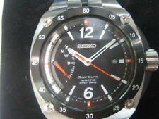 SEIKO SPORTURA MEN'S WATCH KINETIC DIRECT DRIVE ALL S/S ORIGINAL JAPAN SRG005