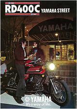 YAMAHA Brochure RD400 RD400C 1976 Sales Catalog Catalogue REPRO Nightclub Scene