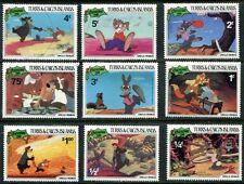 TURKS & CAICOS 1981 UNCLE REMUS - WALT DISNEY SET OF 9 MINT COMPLETE!