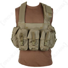 Coyote 6 Pocket Chest Rig Army Combat Vest Webbing Airsoft Military New Military