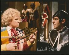 Colin Baker and Michael Jayston Dr Who autographed hand signed photo UACC AFTAL