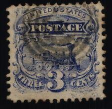 Scott #114 - VF - Ultramarine 3c Used - Pictorial Series - 1869
